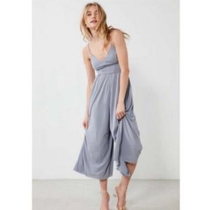 UO Silence + Noise Molly Cupro Culotte Jumpsuit